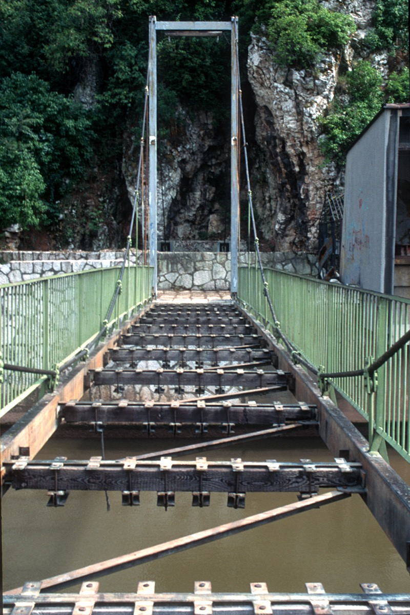 Destroyed Suspension Bridge, Sarajevo
