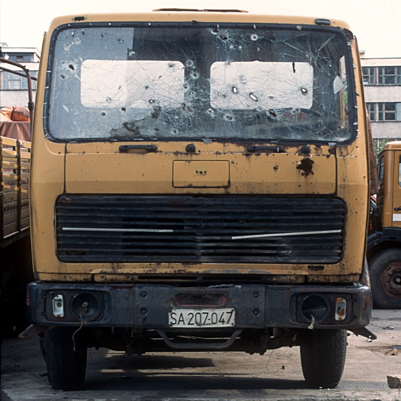 Lorry with Bullet Holes, Sarajevo